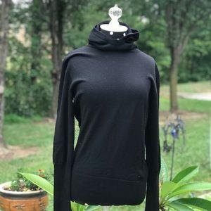 EUC • Emilio Pucci Black Hooded Wool Sweater